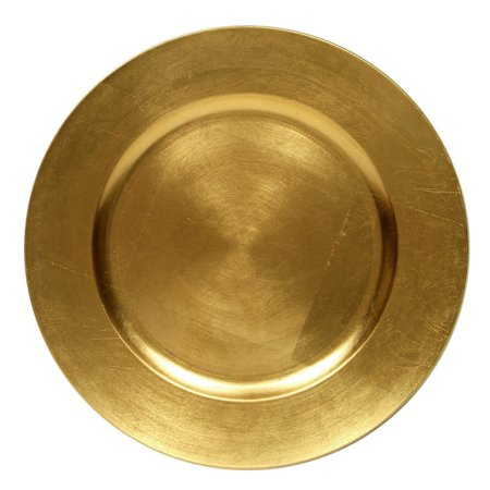 Round Charger Dinner Plates, Gold 13 inch, Set of 1,2,4,6, or 12 (2) - Charger Plates Bulk