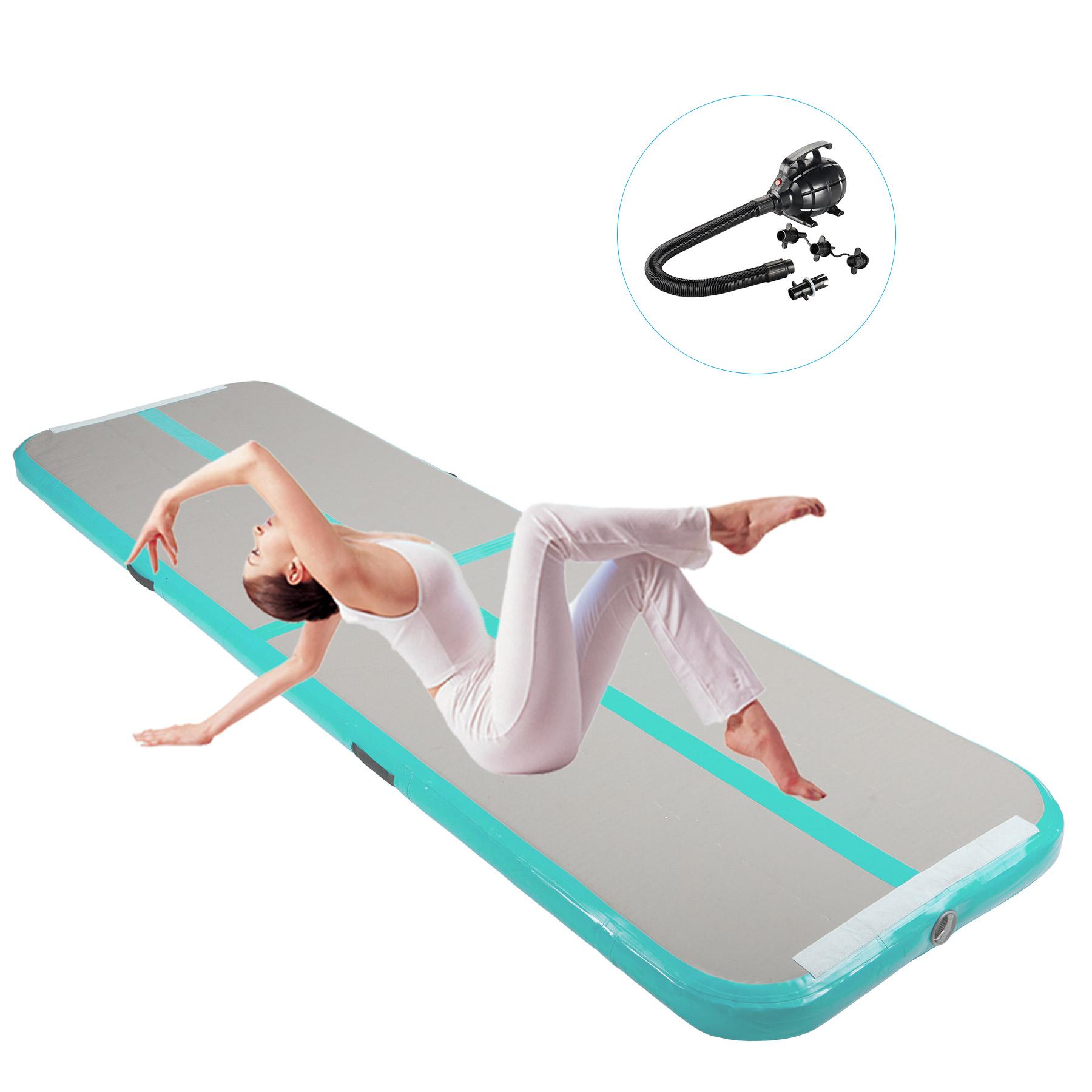 Air Track Inflatable Tumbling Home Gymnastics Tumbling Mat w/Electric Air Pump