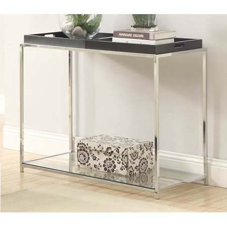 Console Table with Black Trays ()