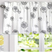 Drift Away Dandelion Floral Flower Lined Thermal Curtain Valance