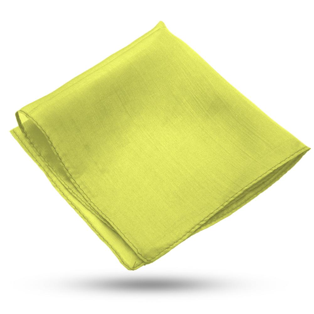 Lemon Yellow Magic Makers Professional Grade 9 Inch Magicians Silk