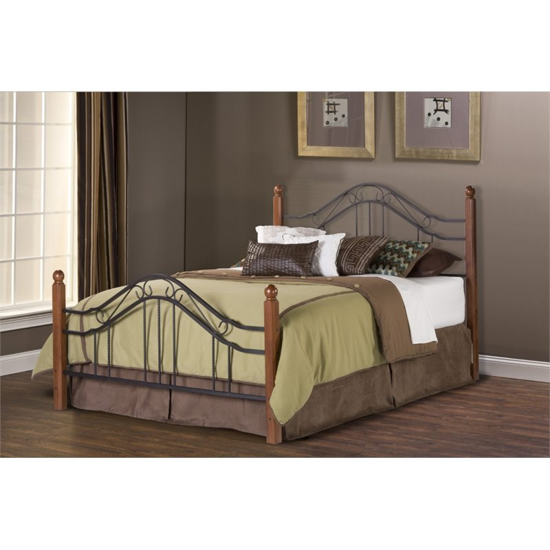 Hillsdale Madison Full Poster Bed in Textured Black by Hillsdale