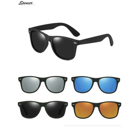 Polarized Sunglasses Driving (Spencer Retro HD Polarized Colored Mirrored Lens Sunglasses Ultralight Driving UV400 Eyewear Glasses for Men Women
