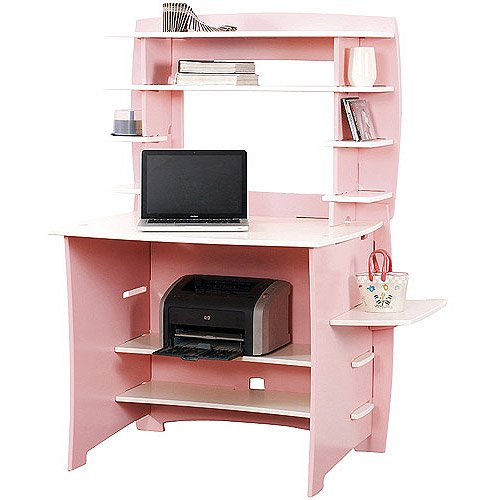 No Tools Assembly Desk With Hutch Pin