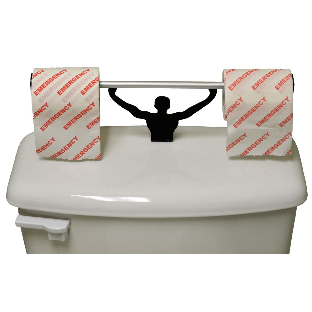 Emergency Toilet Paper W/ Strong Man Holder Novelty Gift Set