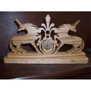 Fine Crafts 470CLK Unicorn wooden mini desk clock