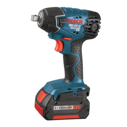 "18V 1 2"" Cordless Impact Wrench Kit, (2) 4.0Ah Batteries BOSCH 24618-01 by Bosch"