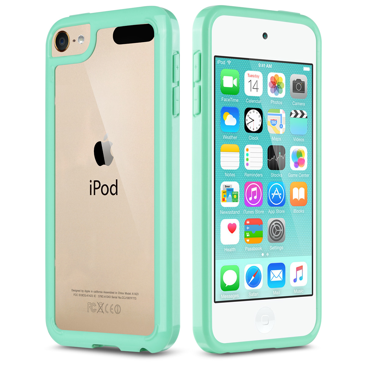 iPod Touch 6th Generation Case,iPod 5 Case, ULAK Clear Hybrid Flexible Soft TPU Case Shock Absorbing Hard Plastic Cover for iPod Touch 6/iPod Touch 5