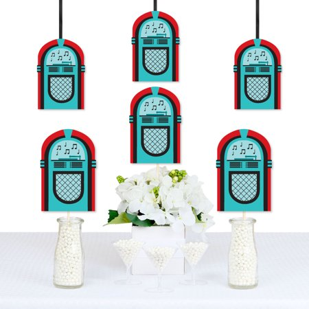 50's Sock Hop - Jukebox Decorations DIY 1950s Rock N Roll Party Essentials - Set of 20 - Rock N Roll Decorations Ideas
