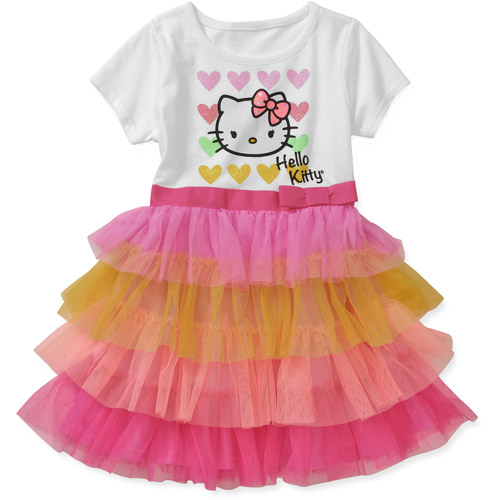 Baby Girls' Hello Kitty Tee Shirt Ruffle
