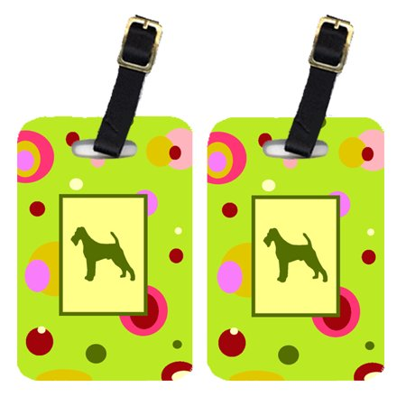 Pair of 2 Irish Terrier Luggage Tags
