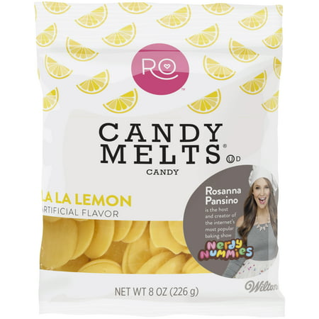 Wilton Rosanna Pansino La La Lemon Candy Melts Candy  8 Oz