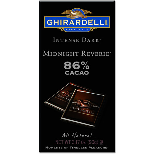 Ghirardelli Intense Dark Midnight Reverie 86% Cacao Bar, 3.17 oz