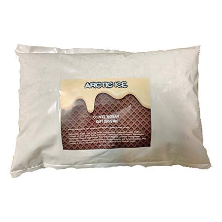Arctic Ice Soft Serve Mix, Cookies and Cream Ice Cream, 3 lb Bag (Works Great for Rolled Ice