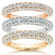 Annello  14k Gold 1ct TDW Diamond Wedding Band