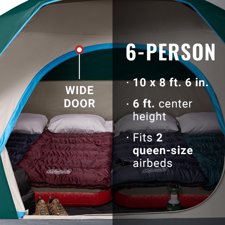 Dark Room Skydome Tent Coleman Camping Tent