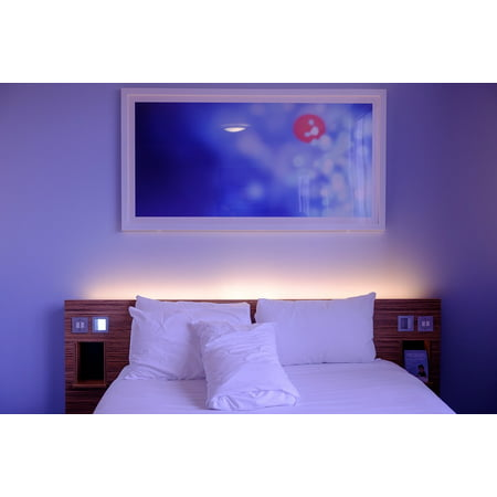 Laminated Poster Lodging Bedding White Bedroom Hotel Room Wall Art Poster Print 24 X 36