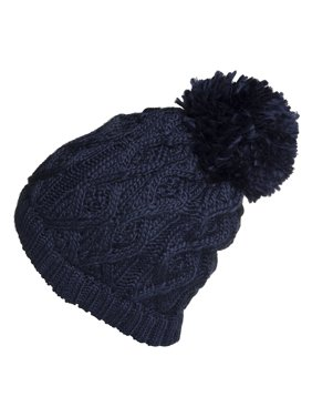 Product Image Polar Extreme Women s Insulated Thermal Slouchy Beanie Hats  With Pom Pom Cable Knit 465da03b6f35