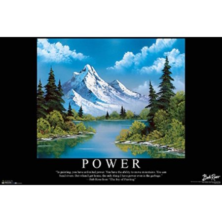 Buyartforless Power Landscape Painting by Bob Ross 36x24 Art Print Poster - The Joy of