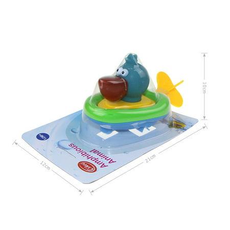 Plastic Pull String Duck Crocodile Pelican Animal Boat Swimming Bathtime Fun Bathtub Toys for Boys Girls Kids - Duck Bath Tub Toy