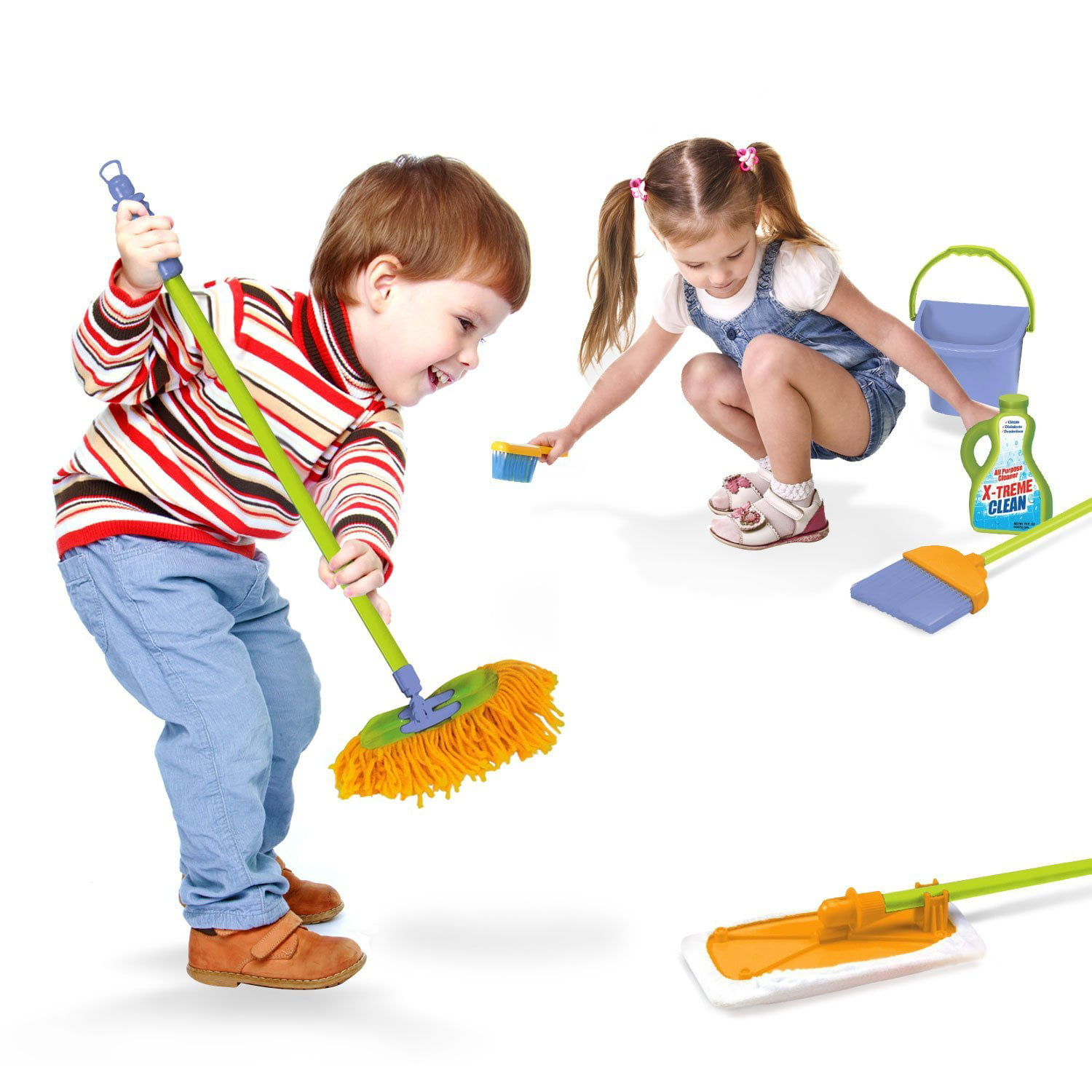 Image result for little kids cleaning