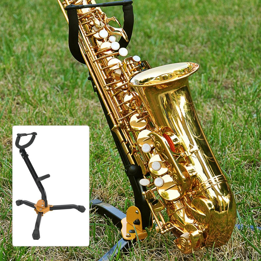 Saxophone Stand Metal Foldable Adjustable Alto Tenor Sax Saxophone Tripod Stand