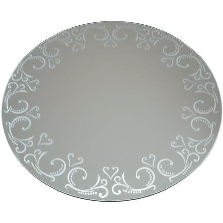Darice Mirror - Darice Round Pattern Mirror, 12