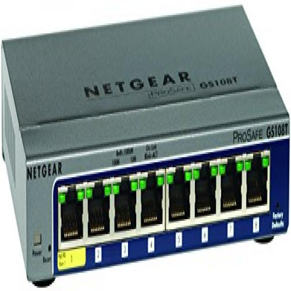 Netgear ProSafe 8-Port Gigabit Smart Switch (GS108T-200NAS) by NETGEAR