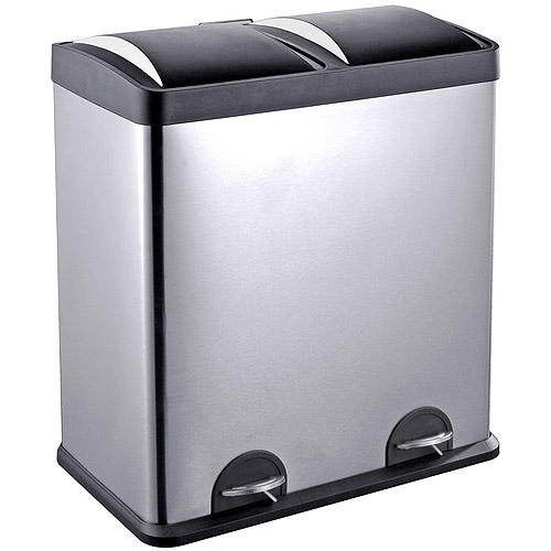 step nu0027 sort 16gallon trash and recycling bin available