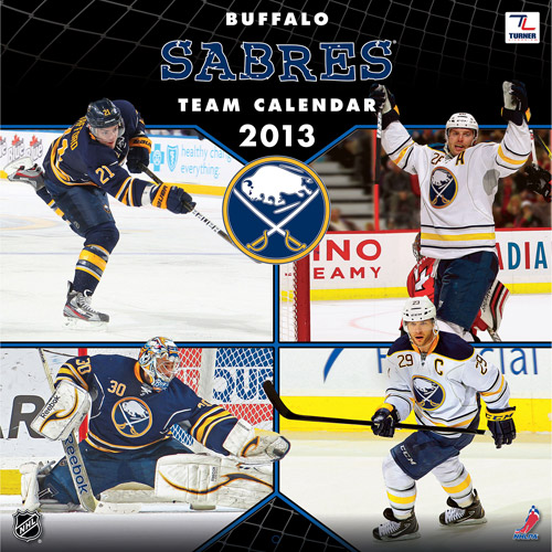 "Turner Licensing 2013 12"" x 12"" Team Wall Calendar, Buffalo Sabres"