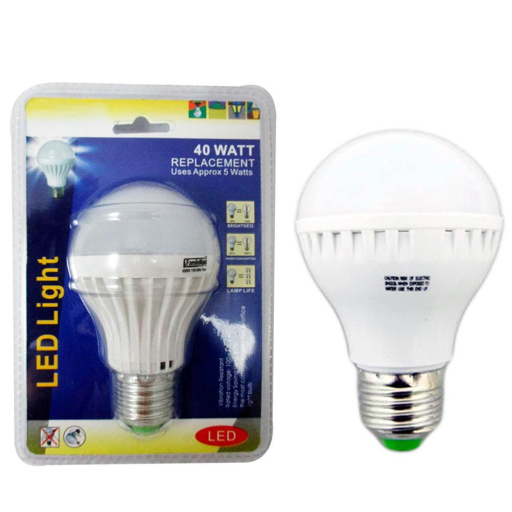 2 40 Watt Energy Saving Bright White Light LED Bulb Lamp Home Office Lighting !