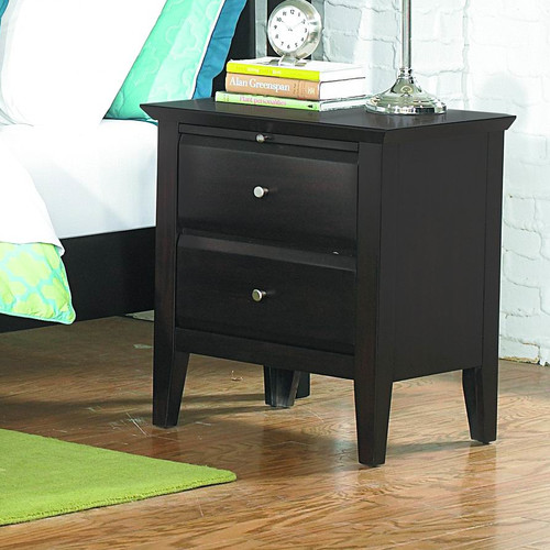 Transitional Night Stand in Espresso Finish