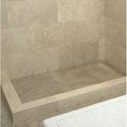 Tile Redi RT3260RDL-PVC-TBN 2-Curb Shower Pan w/Drain & Top Black/Nickel