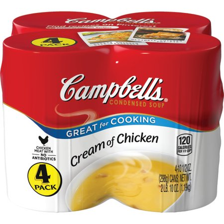 Campbell's Condensed Cream of Chicken Soup, 10.5 oz. Cans (4 pack) Andy Warhol Campbells Soup Can
