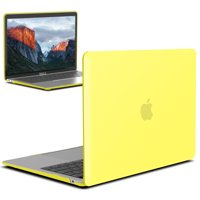 New Macbook Air 13 Inch Case A1932 2018 Release, iBenzer Soft Touch Hard Case Shell Cover for Apple MacBook Air 13 Retina with Touch ID, Yellow