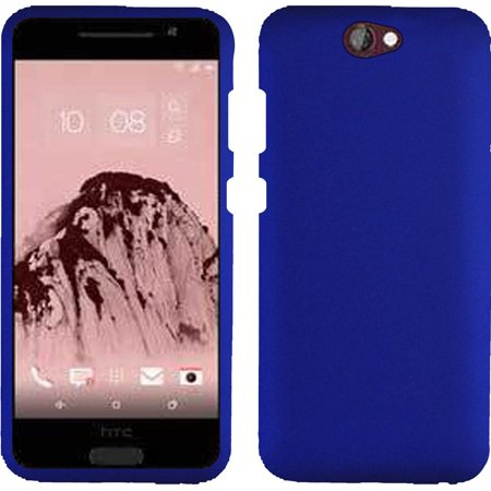 Rubberized Blue Snap - For HTC One A9 Aero Rubberized Snap On Plastic Case - Blue