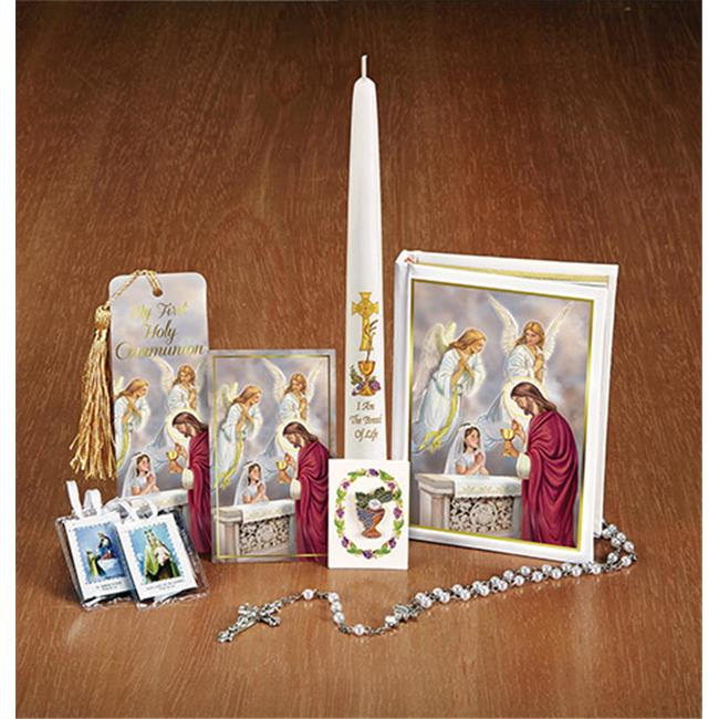 CB Catholic YS878GIRL Bless Sac First Communion Boxed Set Girl