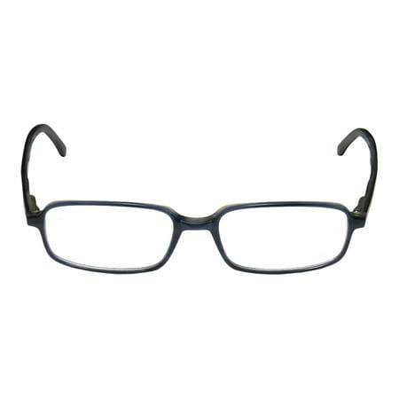 New Jaguar 31000 Mens Designer Full Rim Blue   Gray Frame Demo Lenses 53 17 140 Spring Hinges Eyeglasses Glasses