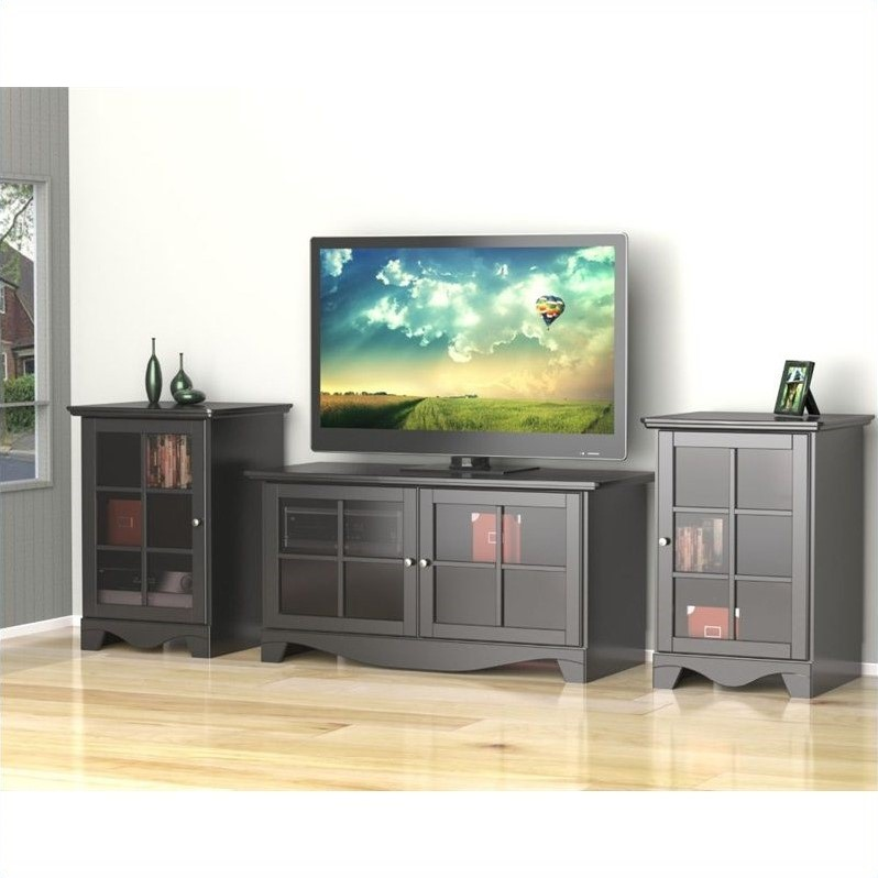"Nexera Pinnacle 3 Piece 49"" Entertainment Set in Black"
