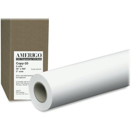PM, PMC09130, Amerigo Wide Format Inkjet Paper, 2 / Carton, White Canon Usa Wide Format Paper