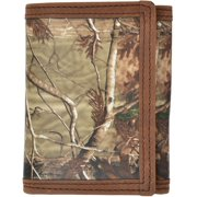 Badger Western Wallet Mens Leather Trifold Realtree Brown BW422
