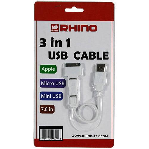Rhino CBU-3IN1 3-in-1 USB Cable
