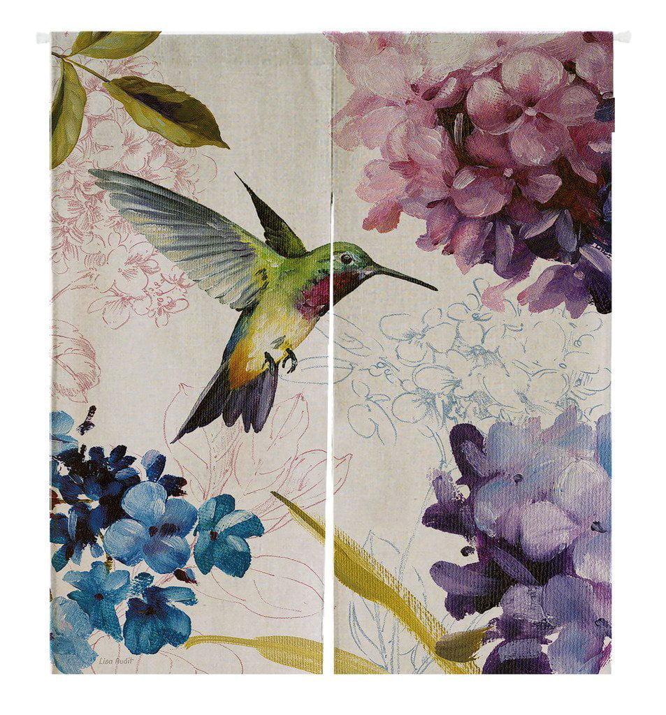 GCKG Hummingbird Painting Doorway Curtain Japanese Noren