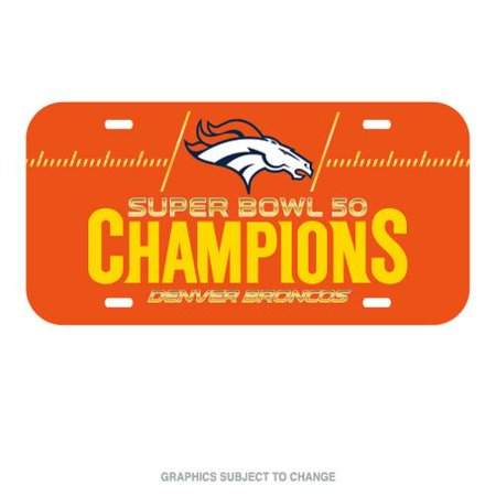 Denver Broncos Official NFL 12 inch  x 6 inch  Super Bowl 50 Champions License Plate by WinCraft