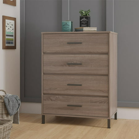 Lined Chest (Better Homes & Gardens Barrow 4 Drawer Dresser, Weathered Oak )