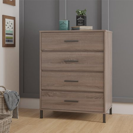 Better Homes & Gardens Barrow 4 Drawer Dresser, Weathered Oak (Da Vinci Oak Dresser)