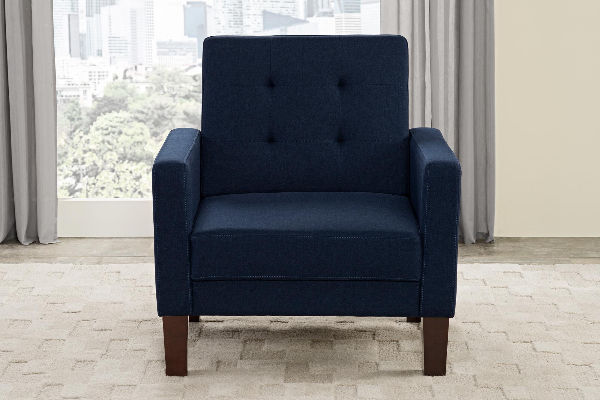 Better Homes and Gardens Porter Chair Blue Linen Walmart