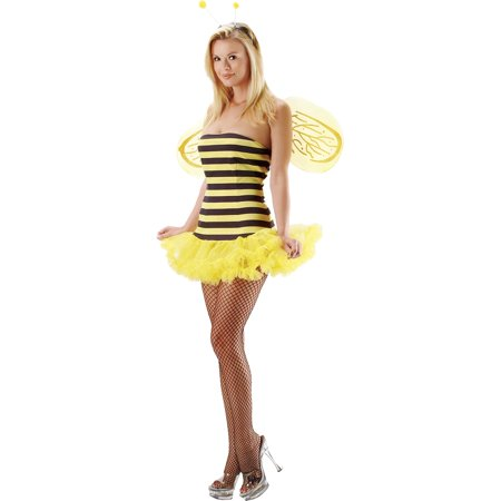 Adult Bumblebee Costume (Womens Sexy Bumble Bee Costume Adult Sizes Small-Medium)