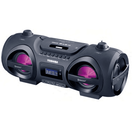Toshiba TY-CWU500 Wireless Bluetooth Boombox Speaker: Portable CD Boom Box with FM Radio, Remote & LED Lights
