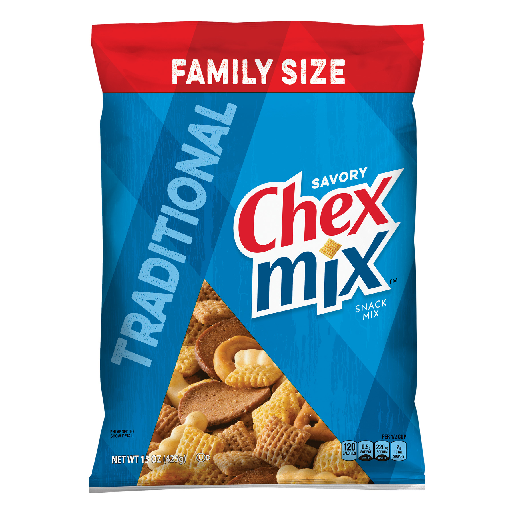 Chex Mix Traditional Savory Snack Mix, 15 oz